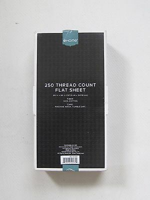 """Flat Sheet Size 66"""" x 96"""" HOME 250 Thread Count 100% Cotton"""