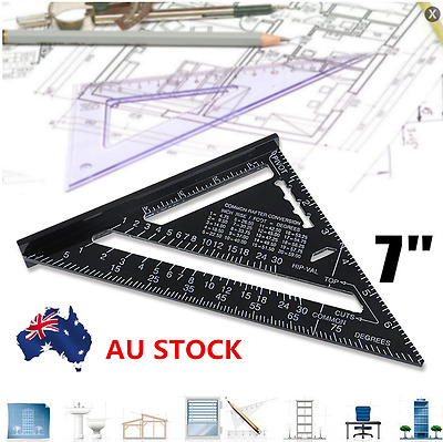 7inch Angle Finder Miter Gauge Ruler Square Protractor Alloy Measurement Tools