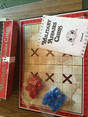 Military Affairs Chess Game Vintage