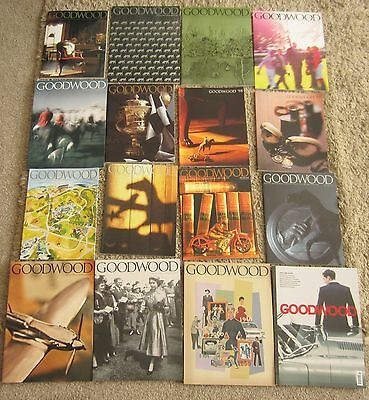 16 Goodwood Magazines - Horseracing/fashion/food/farming/aviation/motor Sport