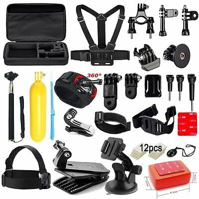 NEW Soft Digits 50 in 1 Action Camera Accessories Kit for GoPro Hero 5 4 3+ 3 2