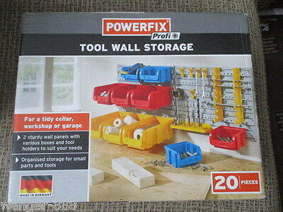 Tool Wall Storage Powerfix Profi.20 Pieces. New In |Box