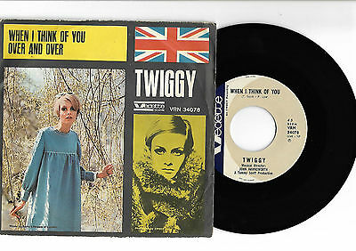 TWIGGY When I think of you 45 ITALIAN Picture Sleeve issue MOD freakbeat Rare