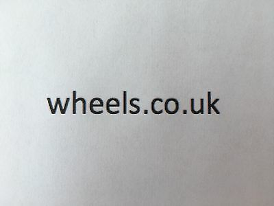 WHEELS.CO.UK Domain Name for sale, rarely available logical single word domain.