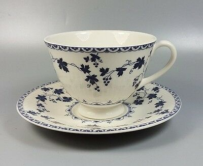 Royal Doulton Yorktown (Ribbed) Tc1013 Tea / Breakfast Cup And Saucer (Perfect)