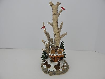 Dept 56 Birch Tree Cluster with 2 Mailboxes #52631 D56 Good Condition