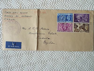 GB 1948 Olympic Games Set Posted To Ceylon - Wembley CDS 29 July