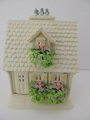 Dept 56 Snowbunnies Blue Bird Cottage Candle Lit House Perfect for Easter #26433