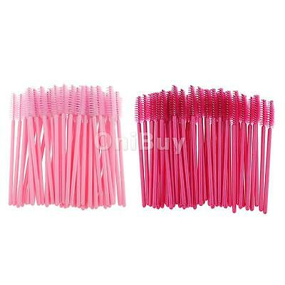 Lot 50/ 100 Disposable Eyelash Mascara Wand Applicator Eye Lash Makeup Brushes