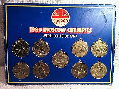 MOSCOW Olympics Medal Collection Card. by Smiths 1980