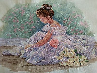 Completed Cross Stitch- SWEET BALLERINA
