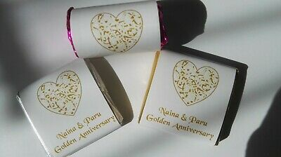 Personalised Chocolate Wedding/Anniversary Favours - swirlheart - Ready Wrapped