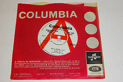"""DAEMON DEE HALF A PICTURE 1966 COLUMBIA 7"""" UK 1st PRESS LARGE 'A' DEMO COPY"""