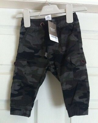 Boys Next Camo Trousers 6-9 Months Bnwt