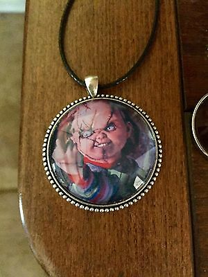 Child's Play Chucky Doll Large Pendant Necklace Horror Movie Themed