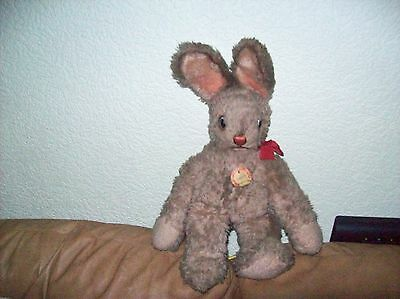 Vintage Steiff Rabbit 50's With Tag But No Button Or Label - Good Condition