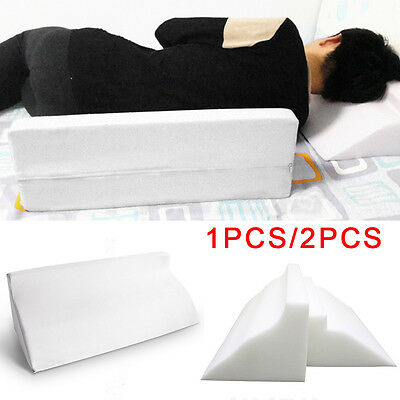 Reclining Quilted Orthopaedic Foam Bed Wedge Back Support Aid Reliever Pillow