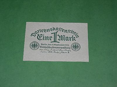 Germany 1 Mark 1922 Banknote Uncirculated