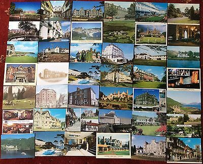 42 UK Hotel Postcards - Used /Unused - Lot A2017