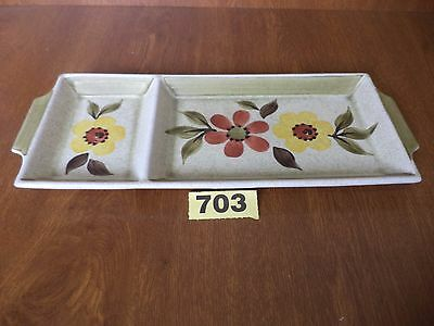 Radford Art Deco Floral Hand Painted 2 Section Serving Tray / Plate / Dish