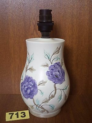 H.J Wood Ltd / Radford Art Deco Floral Hand Painted Table Lamp Base