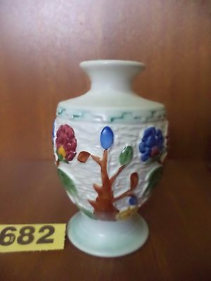 H.J Wood Ltd Art Deco Hand Painted ARABIA Vase - Indian Tree