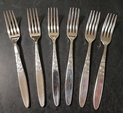 Grosvenor Christine Epns A1 Silver Plated Dinner/main Forks 6 Pieces 18Cm