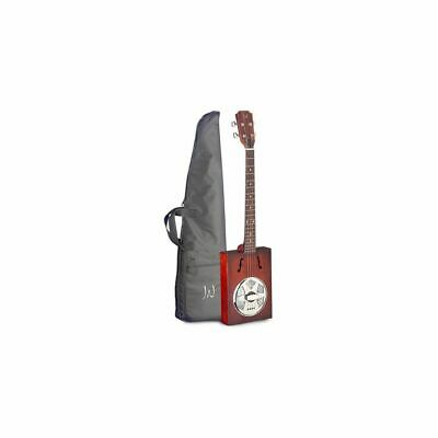 James Neligan CASK-PUNCHEON - 4-saitige Cigar Box Resonator-Gitarre inkl. Tasche