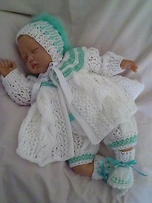 """Stunning Hand Knitted Outfit - To Fit Approx. 20-22"""" Reborn"""