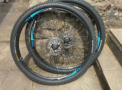 """MTB 29"""" wheels, ALEXRIMS SHIMANO HUBS, 10 SPEED. NEW CONTINENTAL TYRES"""