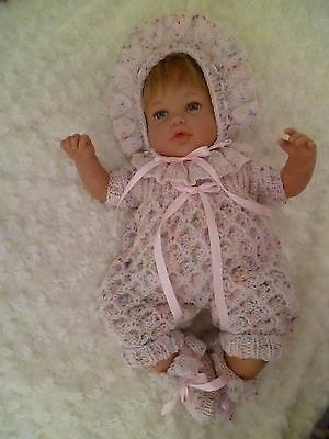 """Sweet  Hand Knitted Romper Set - To Fit Approx. 18-20"""" Reborn"""