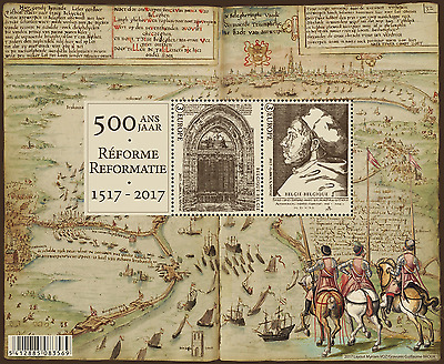 Belgium- 2017-  - 500 Years Reformation- Sheetlets