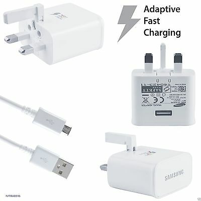 Samsung Galaxy S6 S6 S7 Edge Plus Genuine Adaptive Fast Charger & Cable Note 4 5