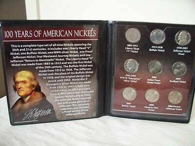First Commemorative Mint 100 Years Of American Nickels Collection #1