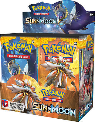 2 x (Two) Pokemon Sun and Moon Booster Packs - Factory Sealed