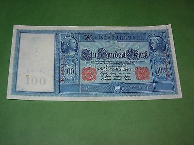 Germany 100 Mark 1910 Banknote Circulated Very Crisp