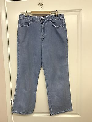 M&S Ladies Classic Straight Leg Jeans, Size 14S, Casual, Holiday, Summer