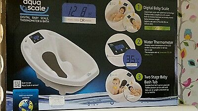 Aqua Scale 3 in 1 Digital Baby Bath (White)
