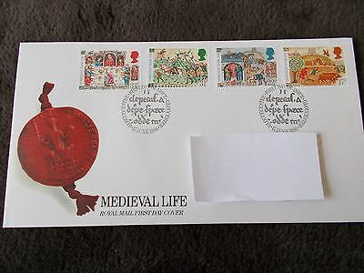 first day covers Medieval life17 june 1986