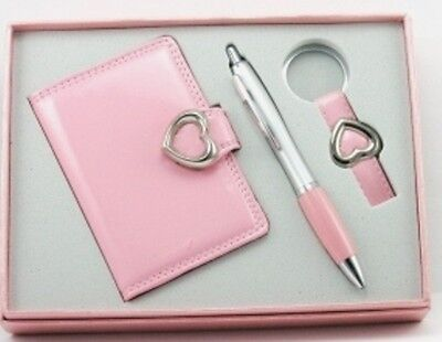 Ladies Gift Set, Card Holder, Pen, Keyring, in Pink, New.
