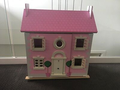 Wooden Dolls House + Furniture