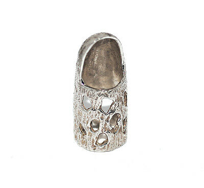 Rare 60s Modernist Arthur King Sterling Silver Thimble, Unusual Vintage Sewing