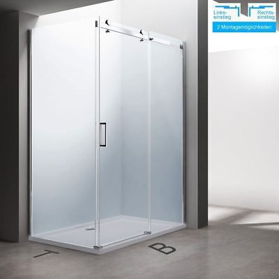 Designer Sliding Shower Door Enclosure Cabin Side Glass Easy Clean Acrylic Stone