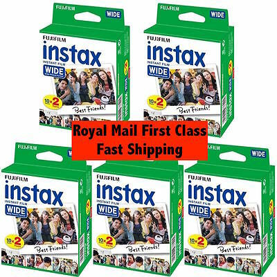 Fuji Instax Wide Instant Film 5 x Twin Pack - 100 Shots Expiry 11/ 2018