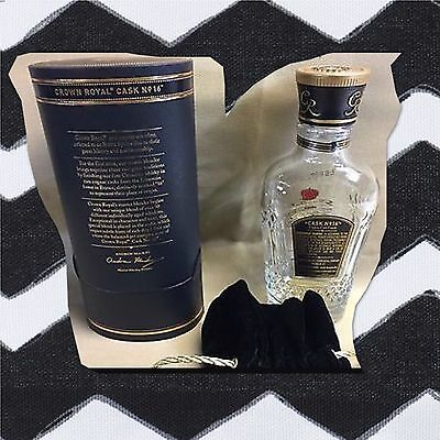 Rare Crown Royal Cask 16 Whisky Whiskey Empty Bottle Box Bag 375 ML