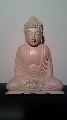 Vintage Collectible Wood Hand Carved Buddha