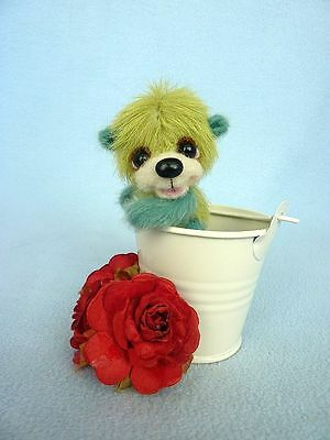 """Aloes"" - 6.1 cm  artist teddy bear (Happyteddy by Aleksandra J.)"