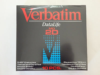 Verbatim Datalife MD2D Double Sided Double Density Floppy Disks 5 1/4 inch 5.25""