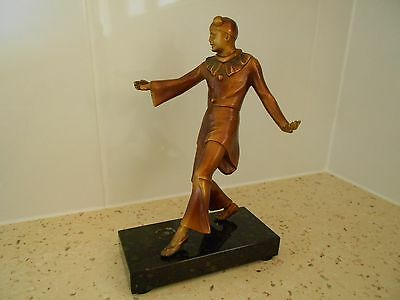 Art Deco Original Spelter Pierrot Dancer.