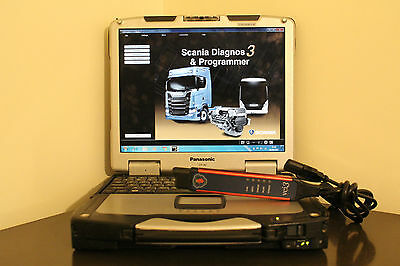 SCANIA   VCI3 DEALER LEVEL DIAGNOSTICS And HEAVY DUTY Laptop Toughbook CF 30 SSD